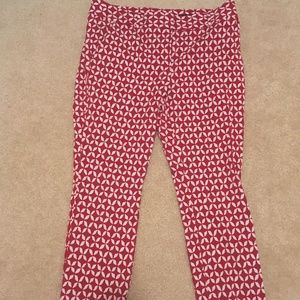 LOFT Marisa Skinny Patterned Pants